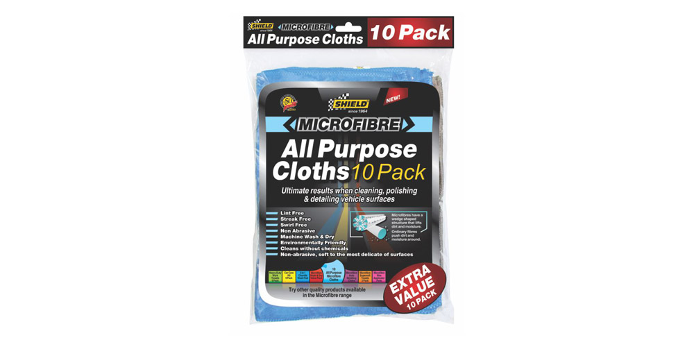 MICROFIBRE ALL PURPOSE CLOTHS – EXTRA VALUE 10 PACK